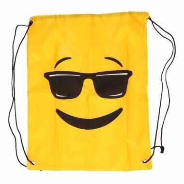 Emoticon rugtasje met zonnebril