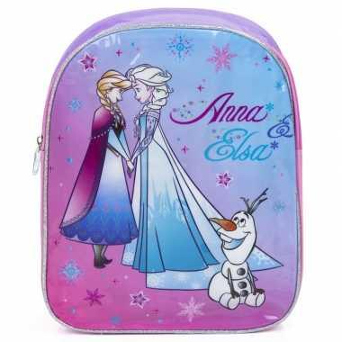Frozen rugtas/rugtas paars/roze 33 cm voor kinderen