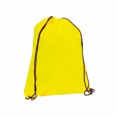 Neon gele rugtas met rijgkoord