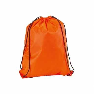 Neon oranje rugtas met rijgkoord