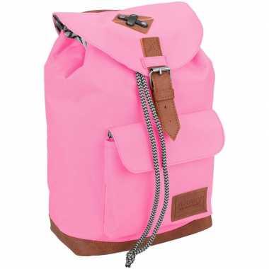 Vintage rugtas/rugtas roze 29 cm voor kinderen