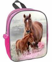 Paard met veulen rugtas rugtas roze voor meisjes 29 x 23 x 10 cm