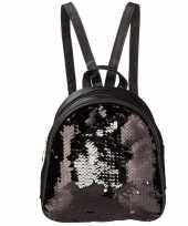 Rugtas rugzak zwart met pailletten 19 cm voor meisjes